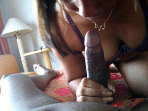 ebony blowjob pov
